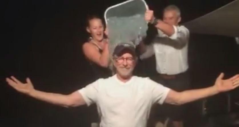 steven spielberg ice bucket challenge