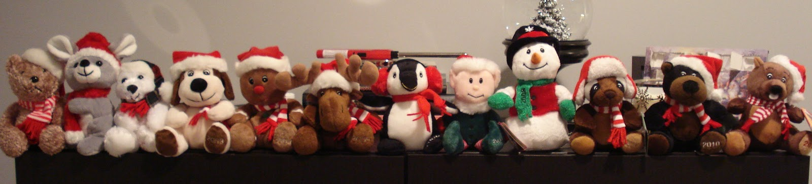 last but not least is my collection of sears stuffies i am not sure if they do this in the states but in canada every year sears comes out with an annual - Sears Christmas Decorations
