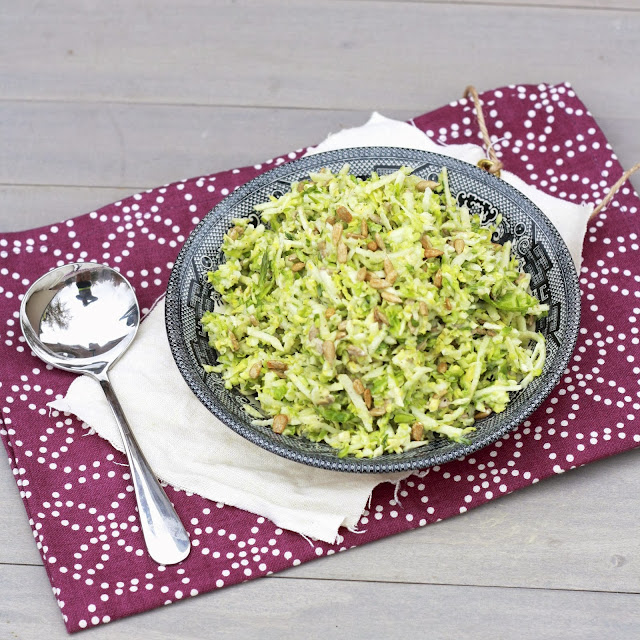 brussels sprout apple slaw