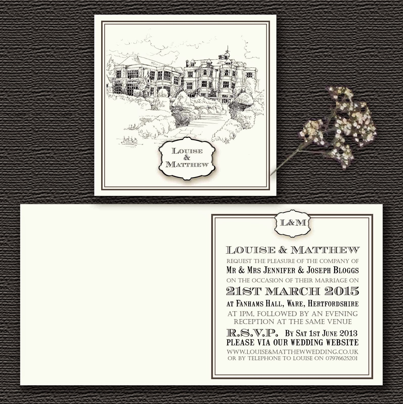 Knots And Kisses Wedding Stationery: Bespoke Wedding Invitations ...