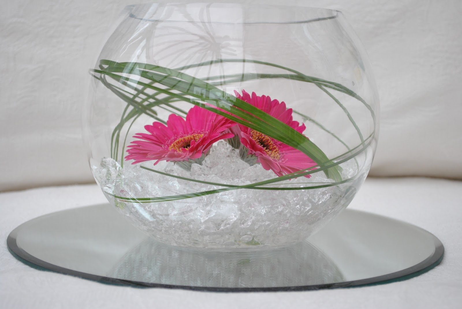 Lucy s flower studio gerbera fish bowl