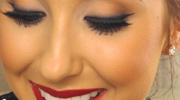 Wedding Makeup Tutorial Red Lips : Karas Glamour Blog: Classic Red Lip Makeup Tutorial!