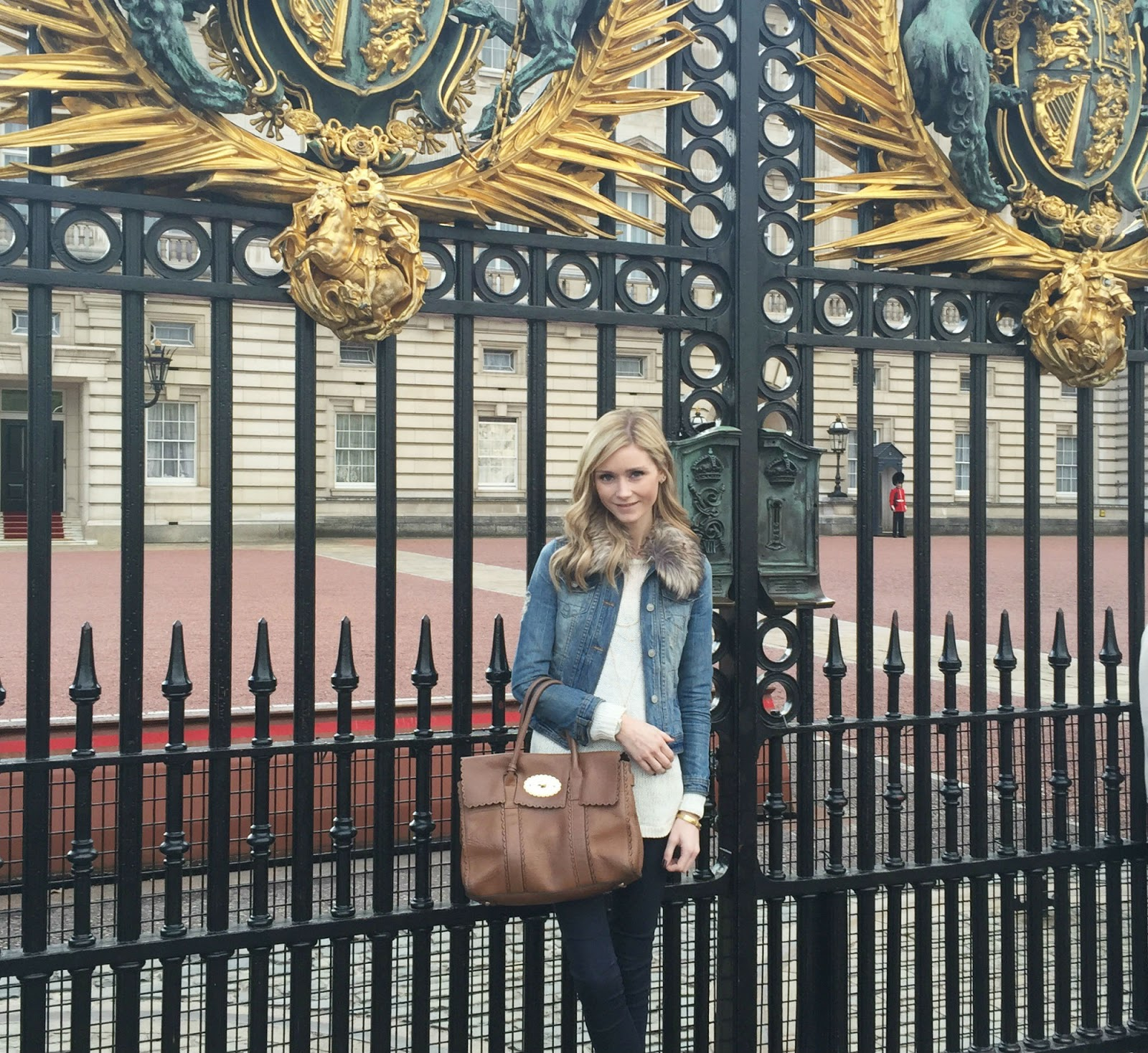 Outside Buckingham Palace Gates
