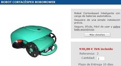 precio robot cortacesped