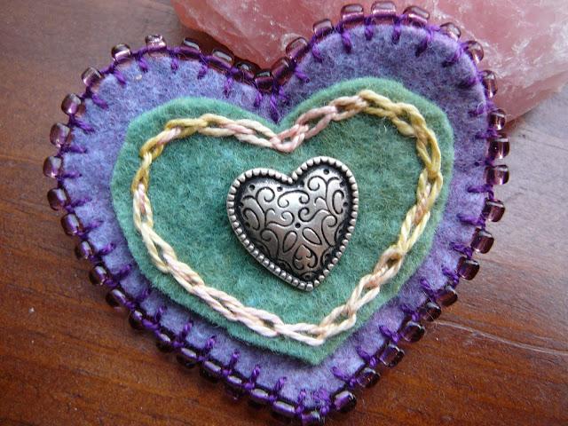 Valentine Heart Broach