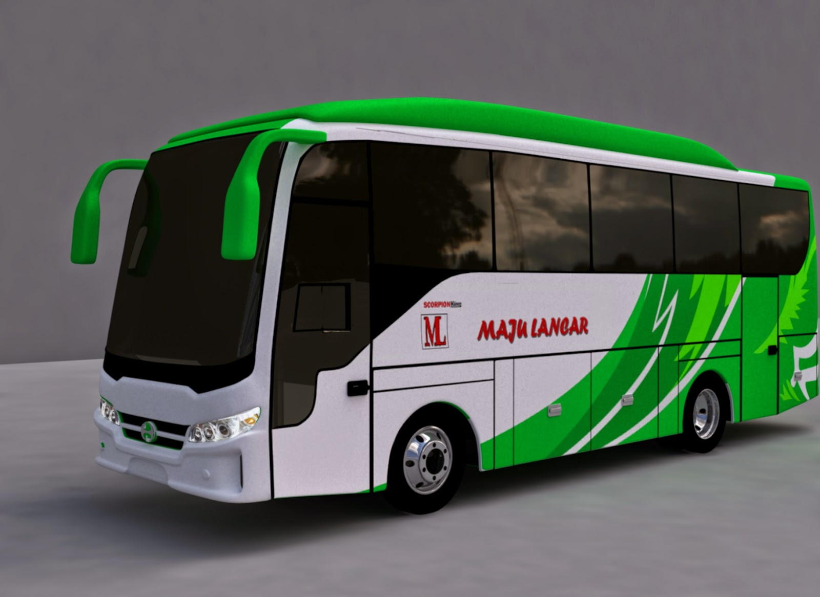 Design bus BEAT MD PO Maju Lancar
