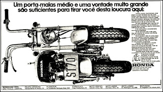 Honda, 1973. brazilian advertising cars in the 70. os anos 70. história da década de 70; Brazil in the 70s. propaganda carros anos 70. Oswaldo Hernandez.