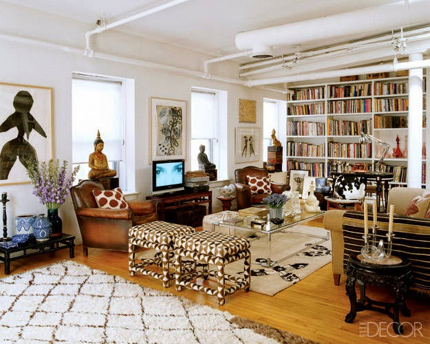 Eclectic manhattan loft of designer madeline weinrib Eclectic home decor