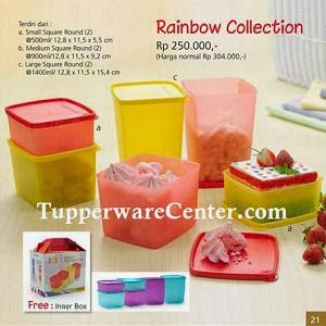 Rainbow Collection - Tupperware Bogor - Katalog Promo September 2013 - Order PIN 268921BF -WA 082123751788