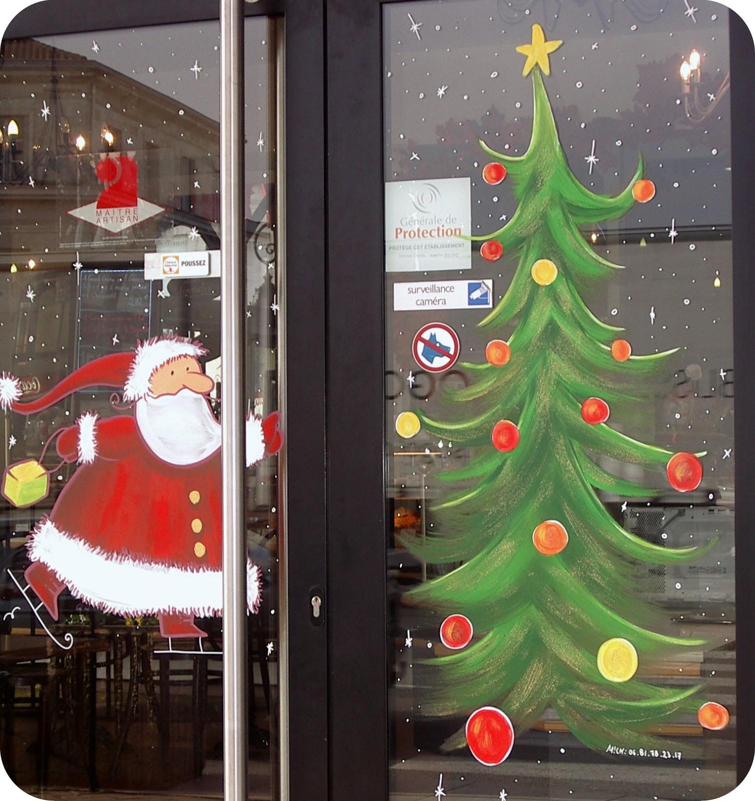 #A82A23 Mickaëlle Delamé: Vitrines Peintes En Lot Et Garonne 5491 décorations de noel pour vitres 1509x1600 px @ aertt.com