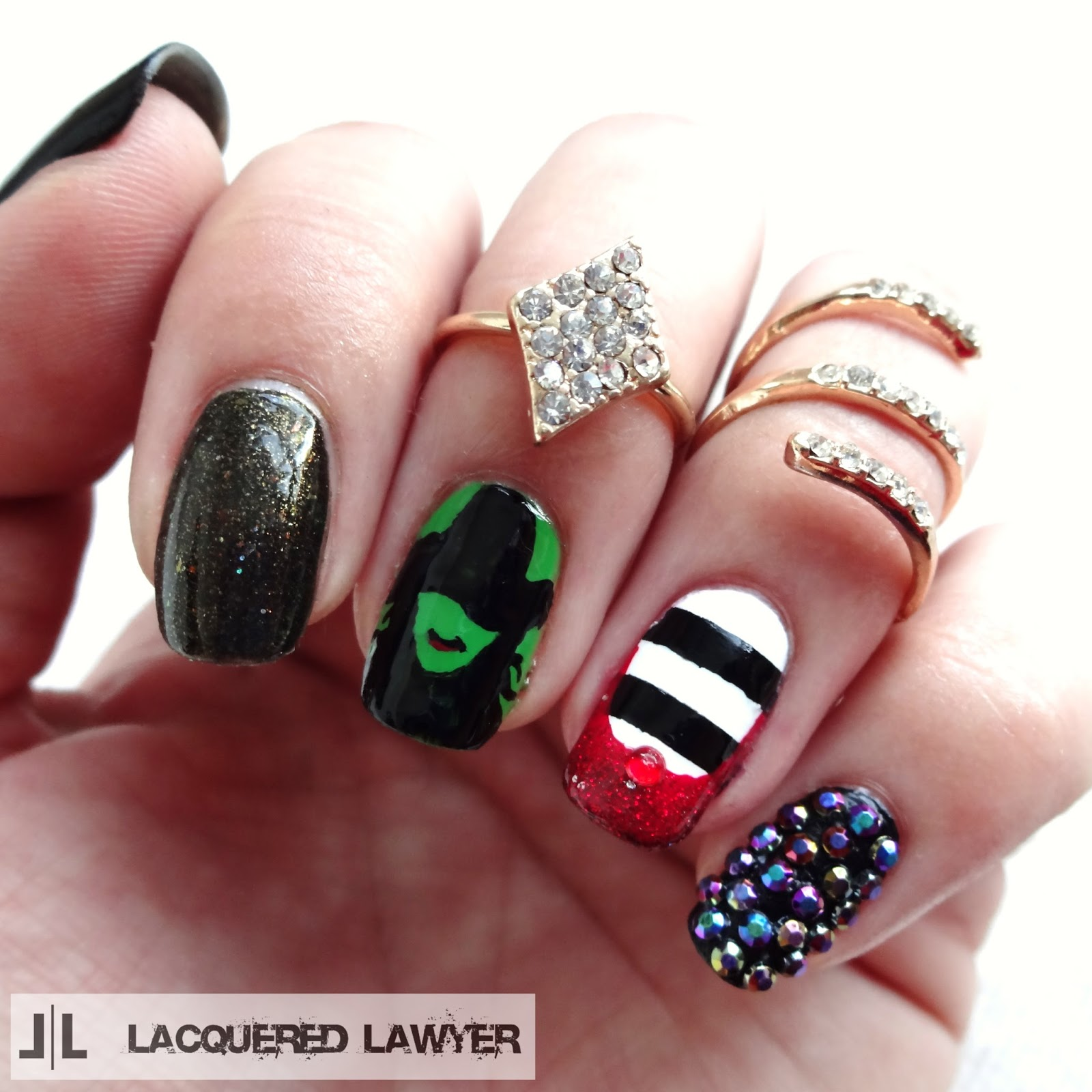 Wicked Witch Nail Art