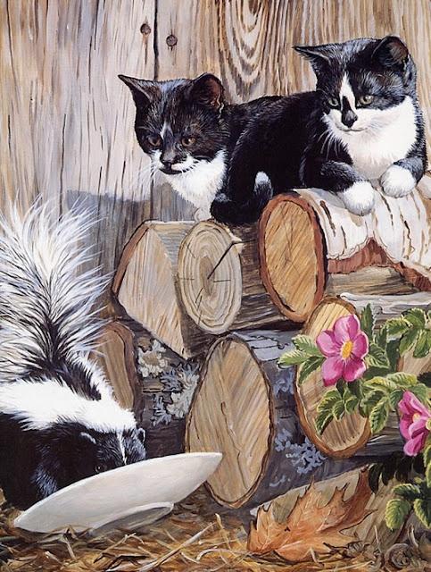 два кота на брёвнышке сидят