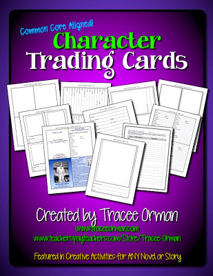 Character Trading Cards Activity http://www.teacherspayteachers.com/Product/Character-Trading-Cards-Common-Core-Activity