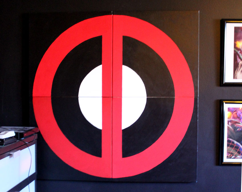 deadpool logo painting