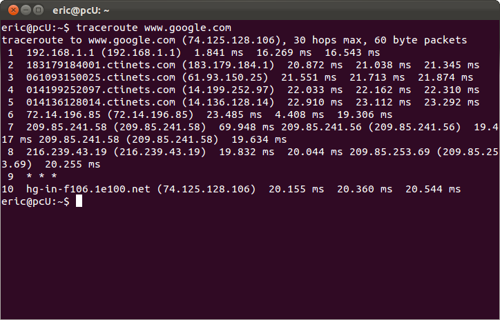 Linux-Buddy: traceroute - display and measure the route (path)