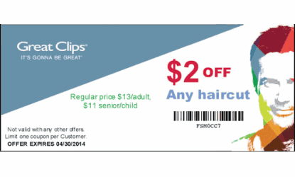 Great clips coupons december 2014