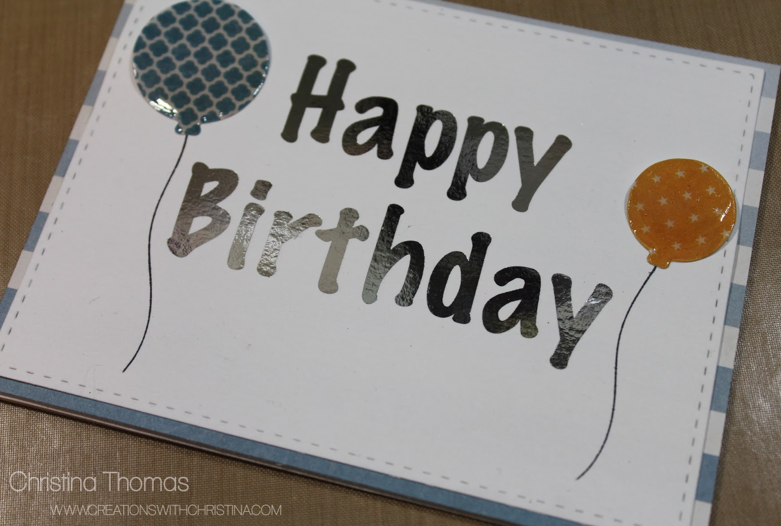 Foiled Birthday Card - Creations with