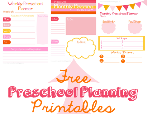 preschool planning printables