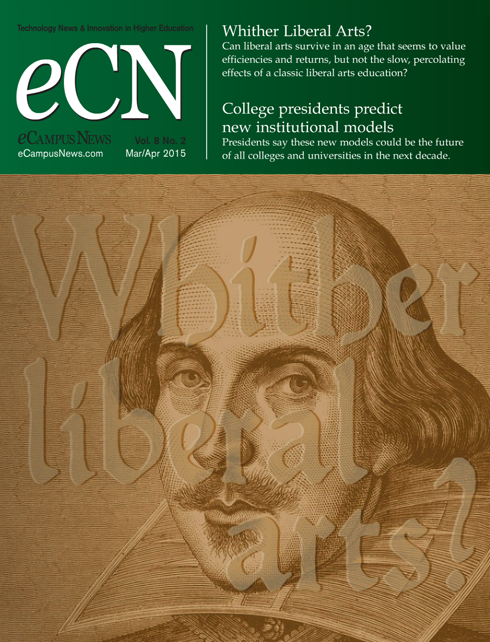 March/April 2015 cover of eCampus News