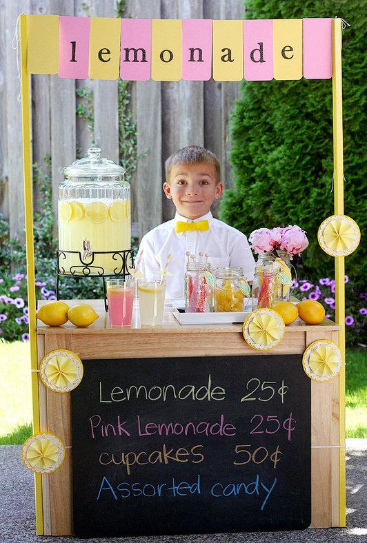 Maddycakes muse diy lemonade stand for Build a lemonade stand