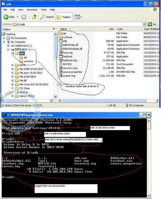 tahap proses Cara Flashing Asus Zenfone C rusak karena ganti ROM bootloop font