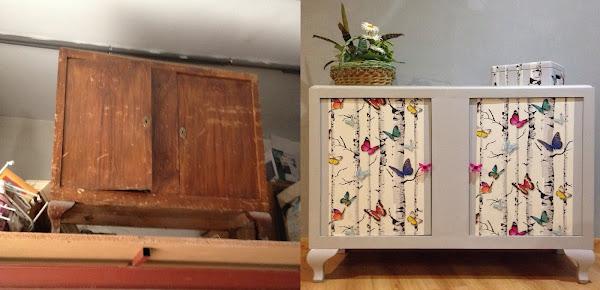 Como empapelar un mueble decorar tu casa es for Como decorar una casa antigua