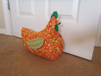 retro chicken doorstop