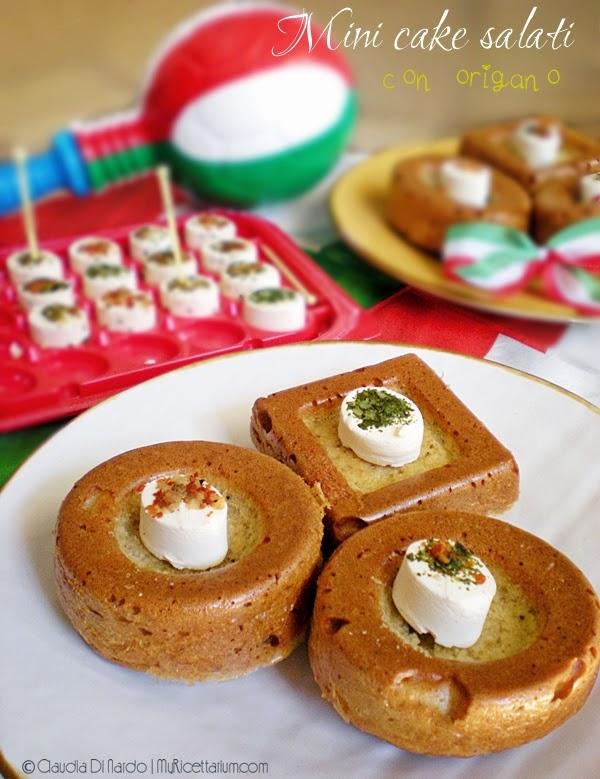 Mini cake salati con origano