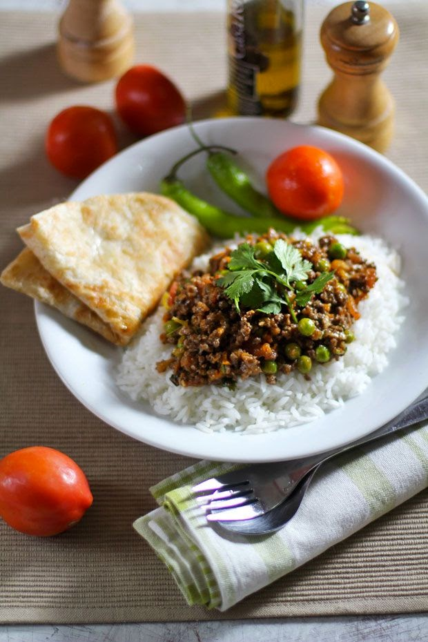 Kheema: Ground Beef with Peas