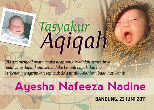 berikut contoh contoh undangan aqiqah yang dapat dipelajari dan ...
