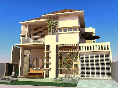 Desain Rumah Minimalis Lahan Simetris