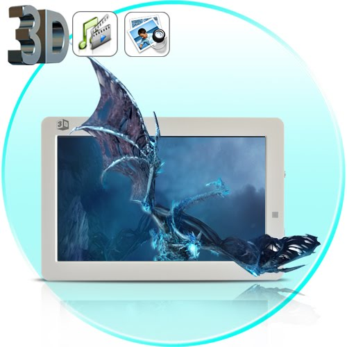 3D Stereoscopic 8 Inch HD Photo Frame + Video Player (Glasses-Free 3D)