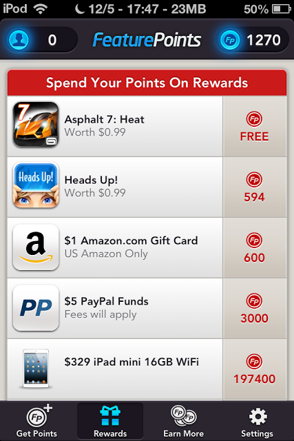 Rewards FeaturePoints