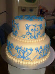WEDDING STACKED CAKE- FONDANT