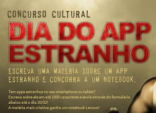 Concurso Cultural Dia do App Estranho