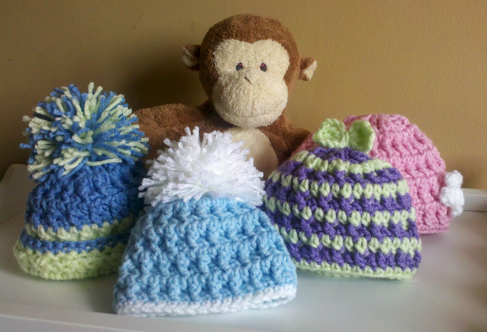 Crochet Patterns Hats For Toddlers : SmoothFox Crochet and Knit: SmoothFoxs Kool Kids Hats ...