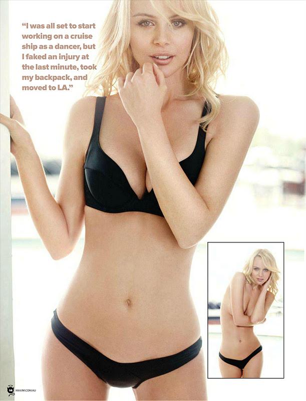 Nude Helena Mattsson @ Maxim, Australia, November 2011
