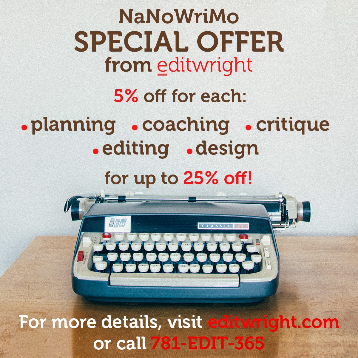 NaNoWriMo Special Offer