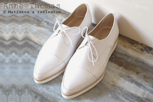 Derbies Anne Thomas chaussures cuir blanc