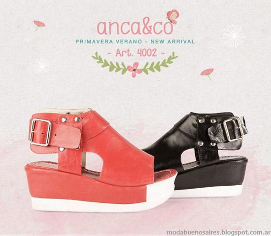 Sandalias verano 2014 Anca & Co primavera verano 2014. Moda sandalias 2014.