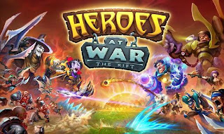 Screenshots of the Heroes at war: The rift for Android tablet, phone.