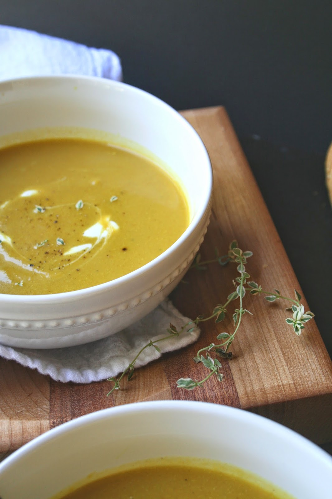The Nifty Cupcake: Curry Butternut Squash and Pear Soup (Vegan Option)