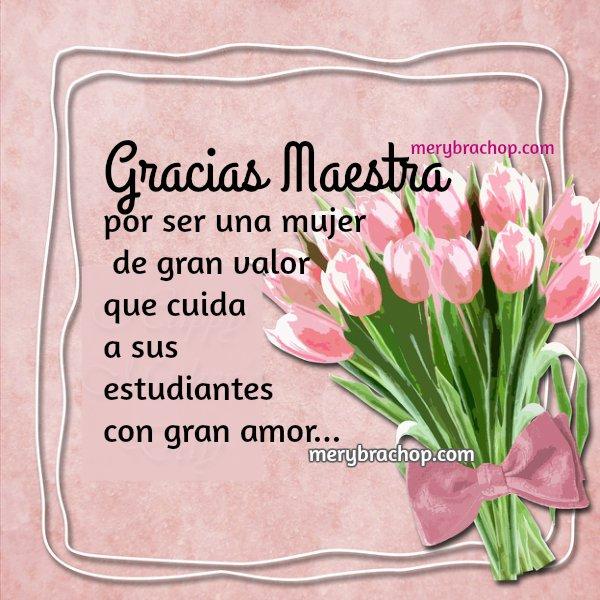 Frases De Agradecimiento Para La Maestra | newhairstylesformen2014.com