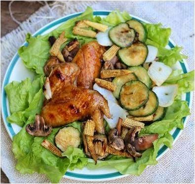 Cánh gà nướng rau củ thơm ngon dễ làm 5