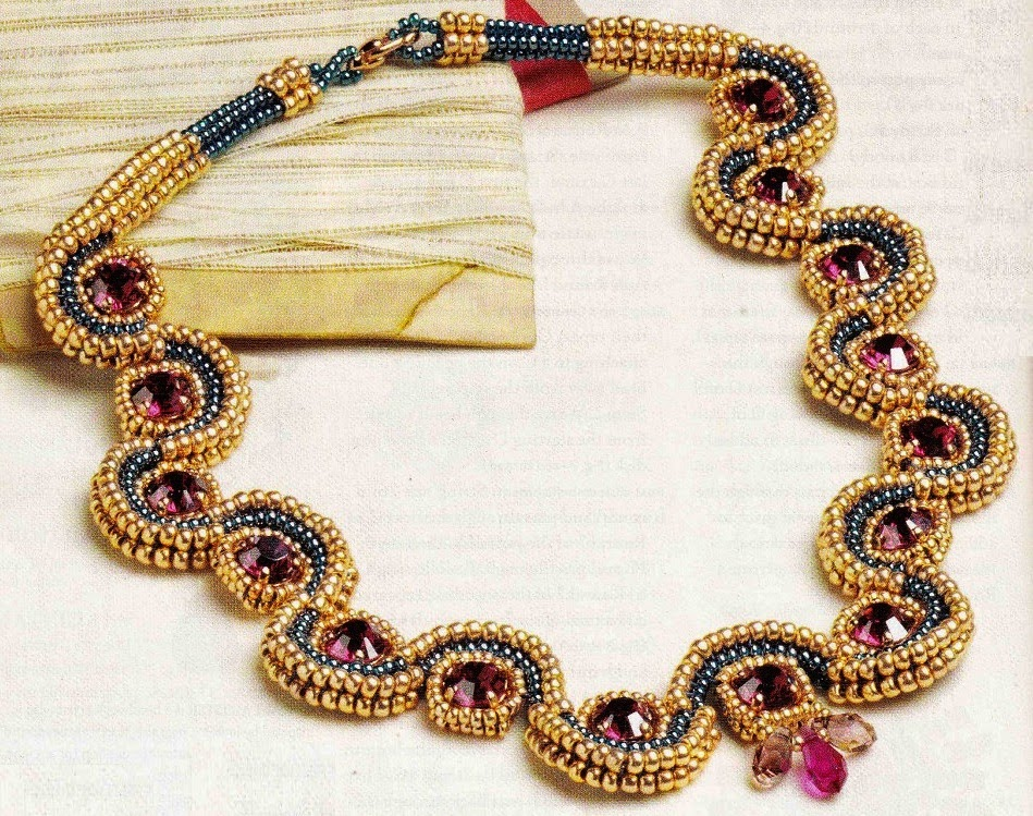 ожерелье из бисера схемы плетения