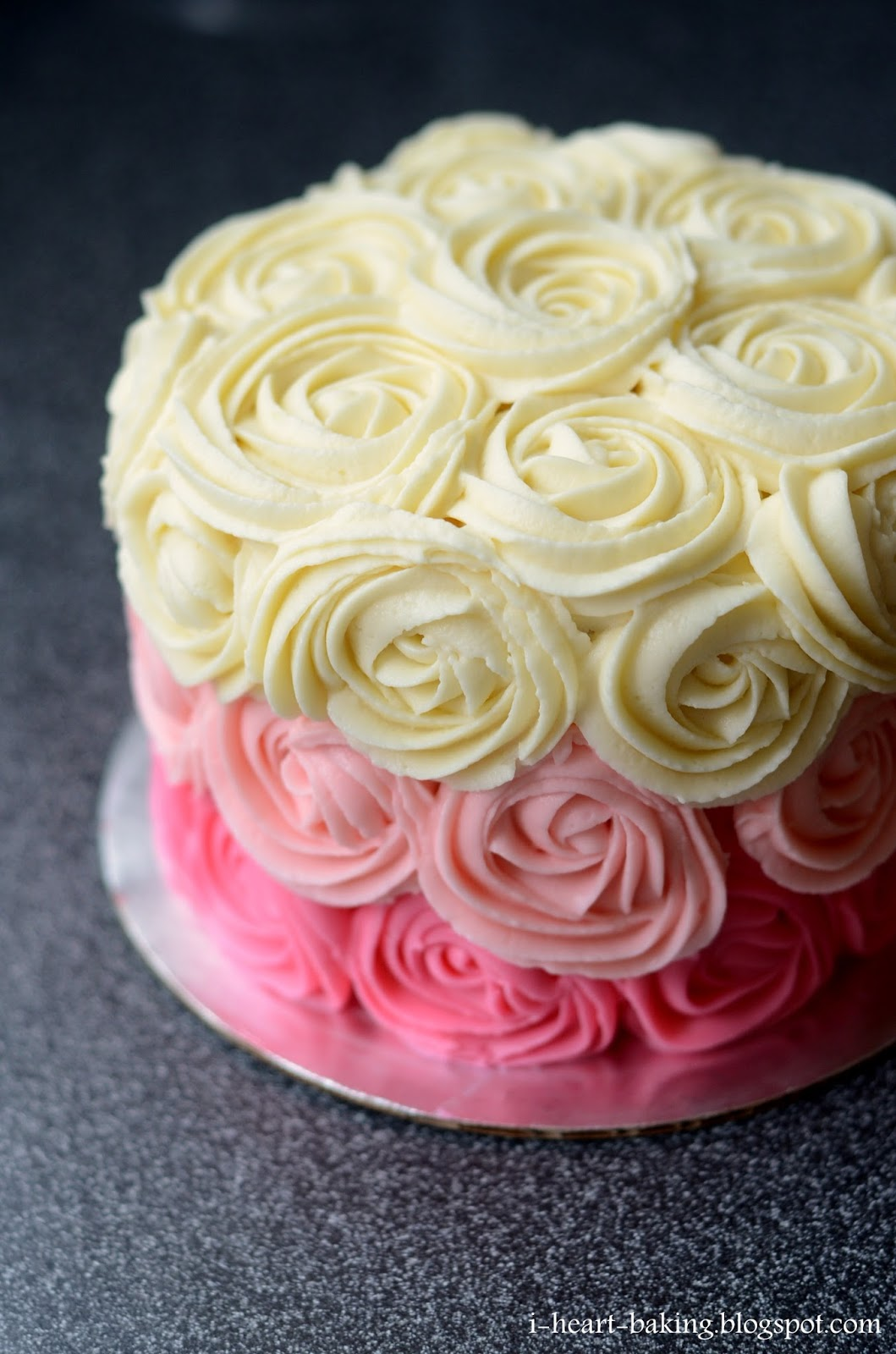 Cake Images Rose : i heart baking!: pink ombre rose cake