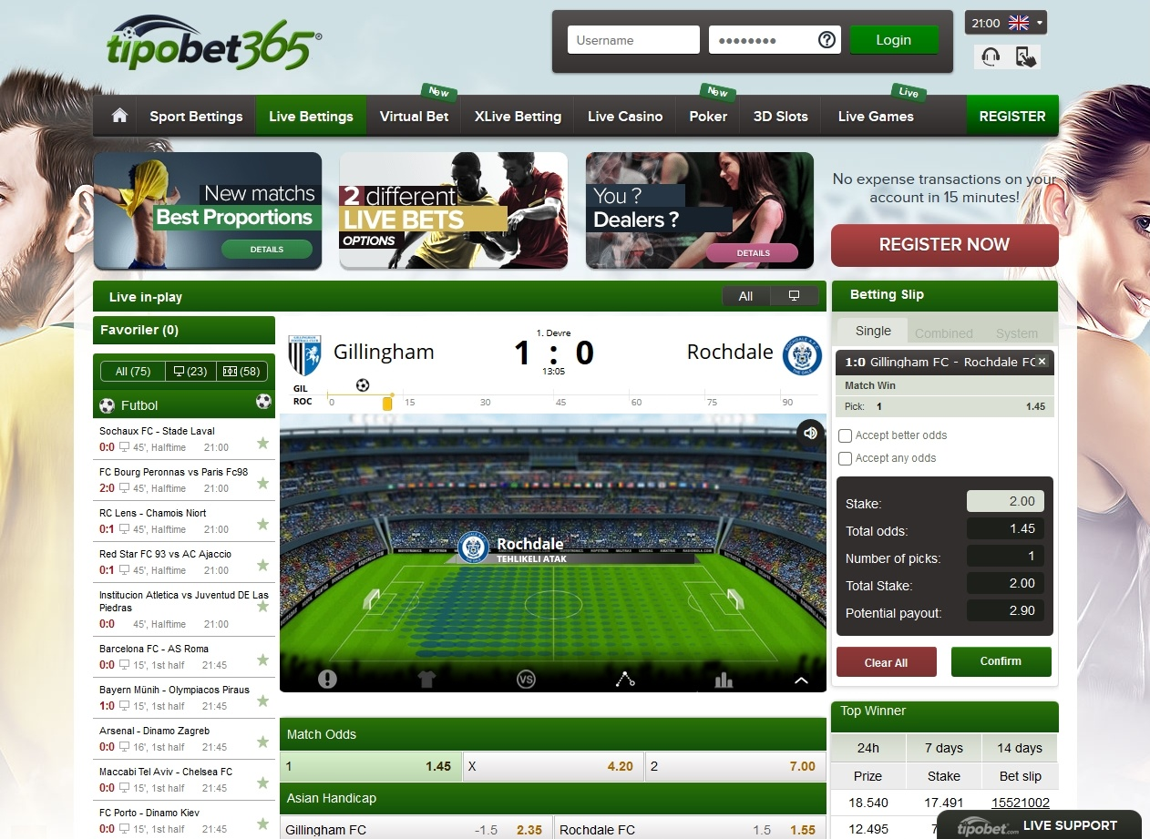 Tipobet365 Screen