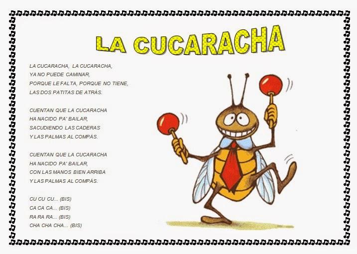 la letra de la cucaracha: