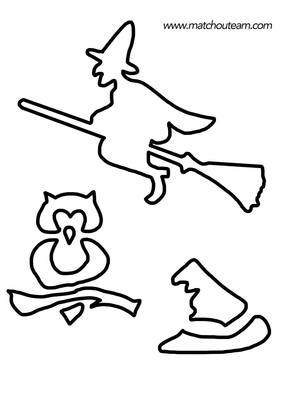 pochoir sorcière hibou