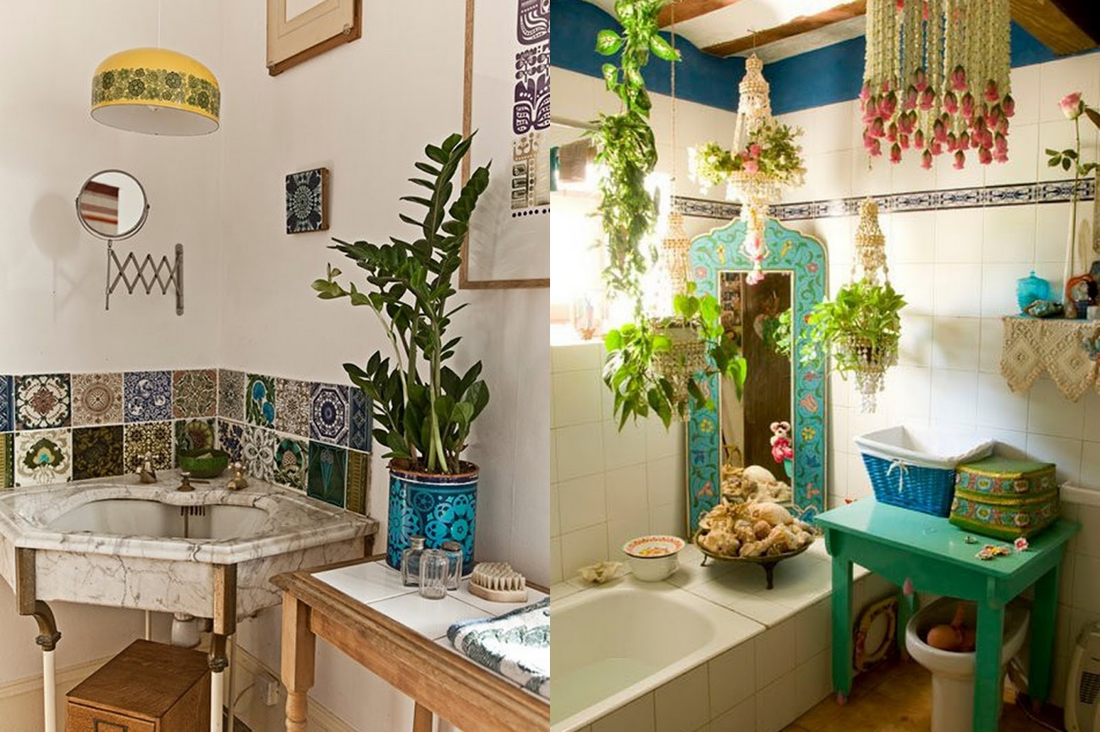 Gypsy yaya beautiful bohemian bathrooms for Decoration accessoire